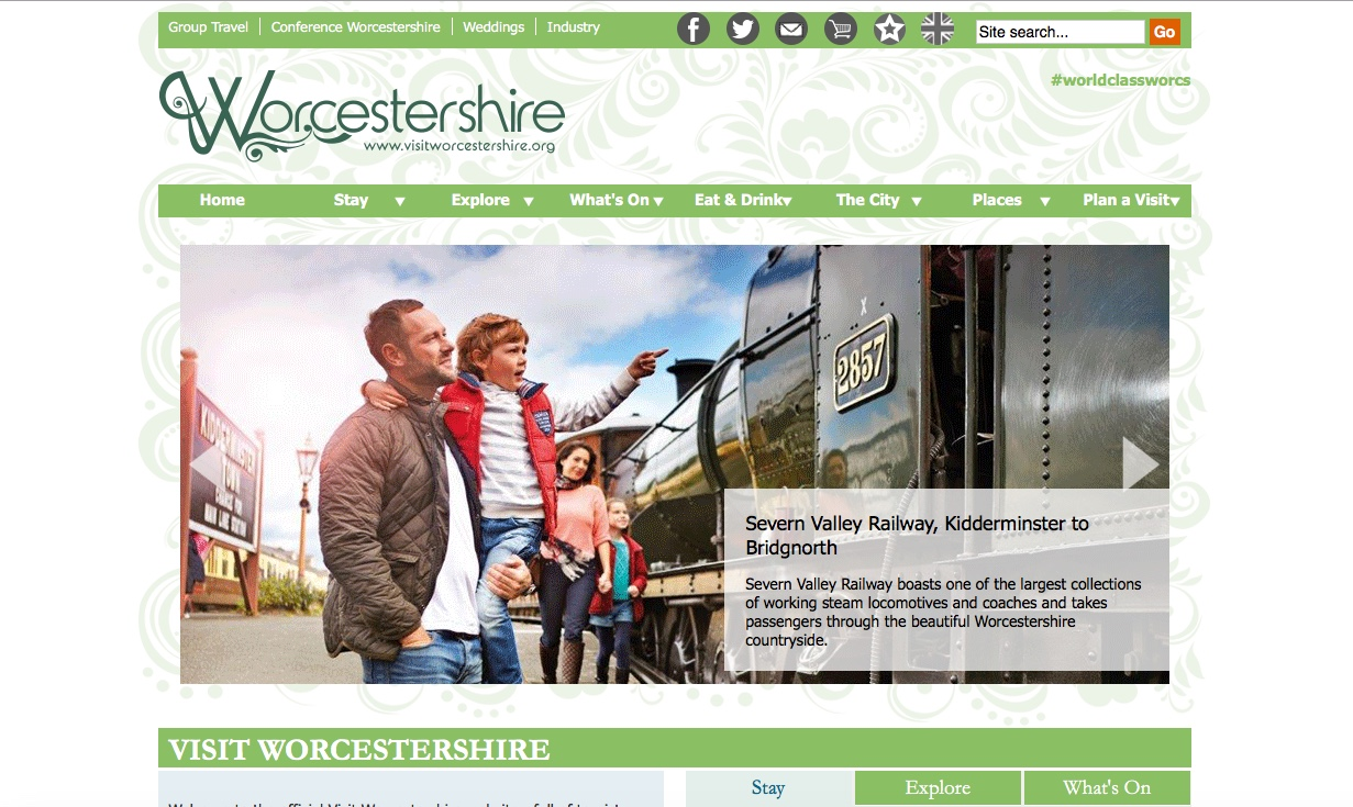 Visit Worcestershire Website